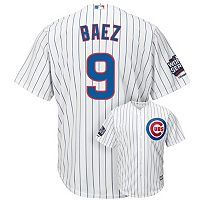 Men's Majestic Chicago Cubs Javier Baez 2016 World Series Champions Cool Base Replica Jersey