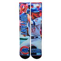 Men's For Bare Feet Chicago Cubs Kris Bryant Trading Card Socks