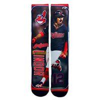 Men's For Bare Feet Cleveland Indians Francisco Lindor Trading Card Socks