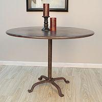 Zayden Round Cast Iron & Steel Dining Table
