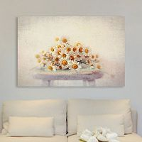 Marmont Hill White Daisies Canvas Wall Art