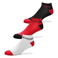 Men's For Bare Feet Chicago Blackhawks 3-Pack Low-Cut Socks