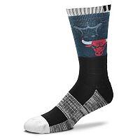 Adult For Bare Feet Chicago Bulls Blackout Socks