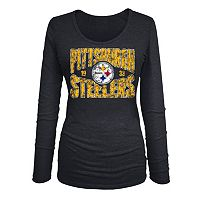 Women's 5th & Ocean Pittsburgh Steelers Triblend Tee