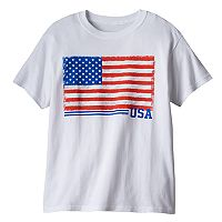 Boys 8-20 USA Flag Core Value Tee