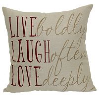 Brentwood ''Live Boldly'' Woven Throw Pillow