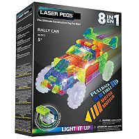 Laser Pegs 8-in-1 Rally Car Lighted Construction Toy