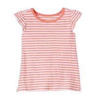 Baby Girl Jumping Beans® Striped Slubbed Rosette Tee