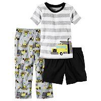Baby Boy Carter's Striped Tee, Print Pants & Solid Shorts Pajama Set