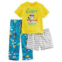 Toddler Boy Carter's Graphic Tee, Print Pants & Shorts Pajama Set