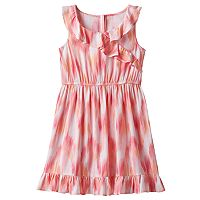 Girls 4-10 Jumping Beans® Patterned Ruffled Wrap Dress