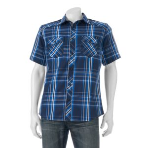 Big & Tall Rock & Republic Classic-Fit Plaid Button-Down Shirt