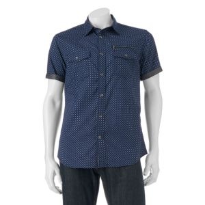Big & Tall Rock & Republic Classic-Fit Diamond Button-Down Shirt