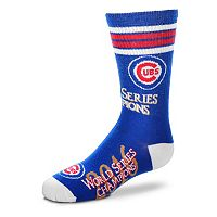 Youth For Bare Feet Chicago Cubs 2016 World Series Champions Team Color Crew Socks
