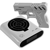 Trademark Games Gun & Target Recordable Alarm Clock