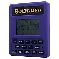 Trademark Games Electronic Handheld 2-in-1 Solitaire Game