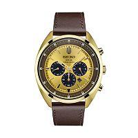 Seiko Men's Recraft Leather Solar Chronograph Watch - SSC570