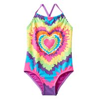 Girls 4-6x Freestyle Revolution Tie-Dyed Heart One-Piece Swimsuit
