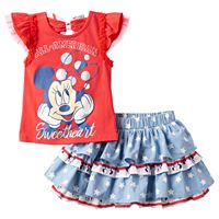 Disney's Minnie Mouse Girls 4-6x Top & Skort Set