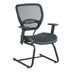 Office Star Products Air Grid Seat & Back Visitor's Chair by