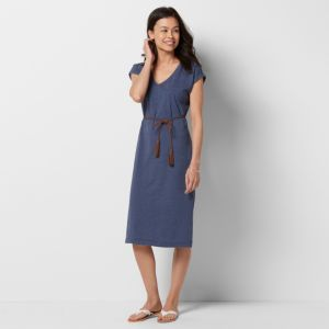 Petite Size SONOMA Goods for Life™ Belted T-Shirt Dress