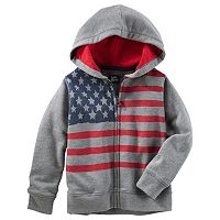 Toddler Boy OshKosh B'gosh® American Flag Zip-Up Hoodie