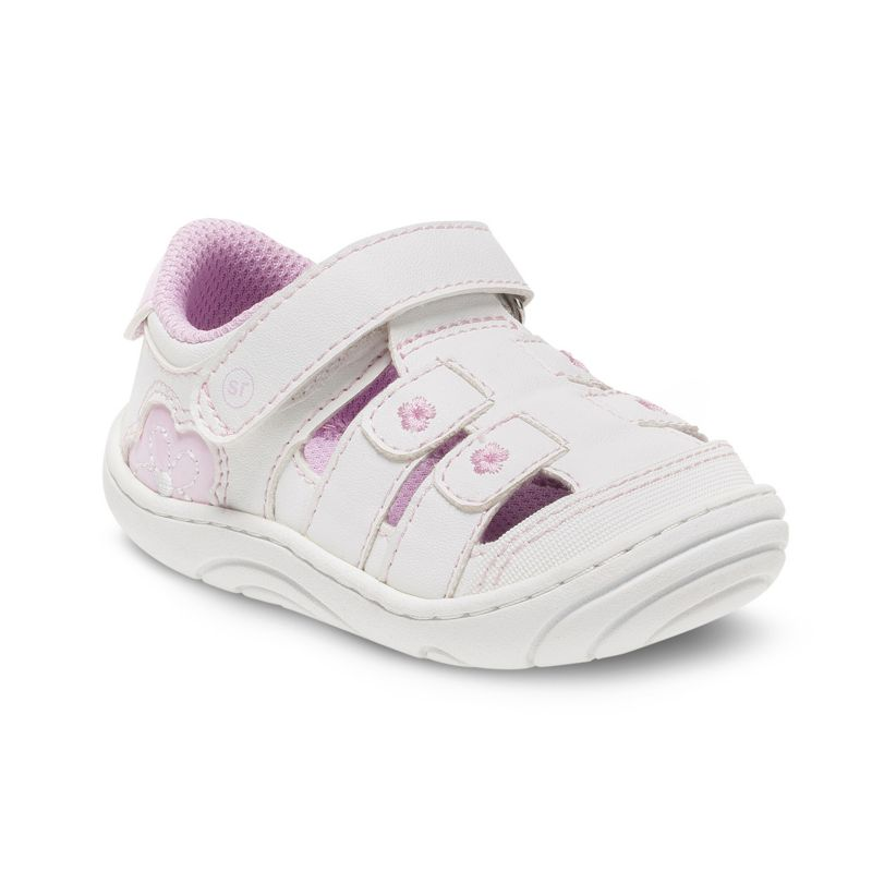 Stride Rite Tulsi Baby / Toddler Girls' Sandals, Size: 3T, White thumbnail