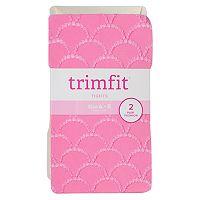 Girls 4-16 Trimfit 2-pk. Mermaid Textured Tights