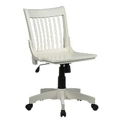 Office Star Products Deluxe Armless Wood Banker's Chair by