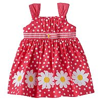 Baby Girl Blueberi Boulevard Polka-Dot Flower Sundress