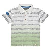 Toddler Boy Burt's Bees Baby Dip Dye Striped Polo Shirt