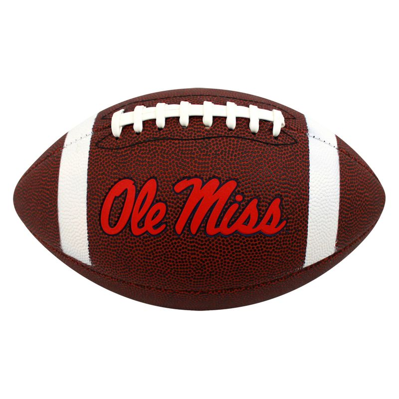Baden Ole Miss Rebels Official Autograph Football, Brown thumbnail