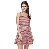Juniors' Candie's® Chevron Skater Dress