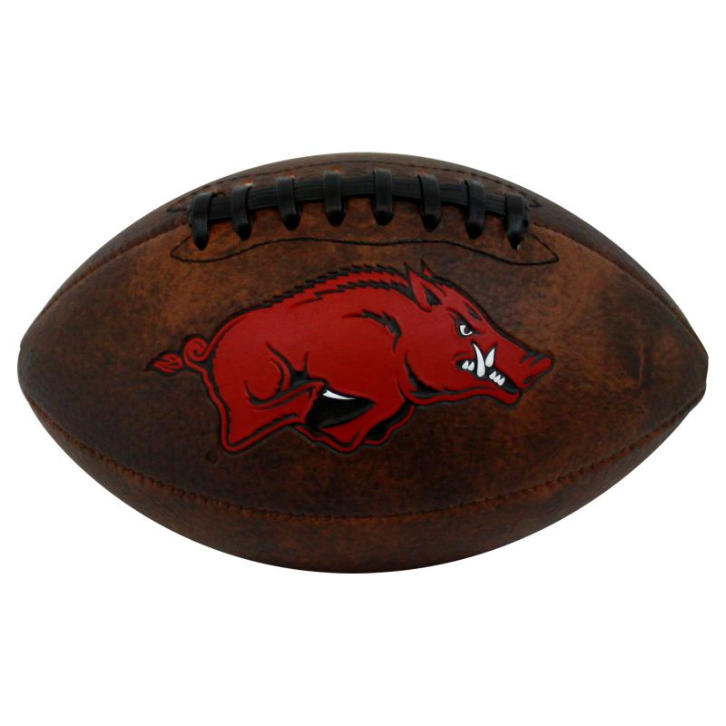 Baden Arkansas Razorbacks Mini Vintage Football, Brown thumbnail