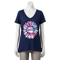 Juniors' love this life Floral Graphic Tee