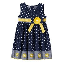 Baby Girl Blueberi Boulevard Dot Sunflower Dress