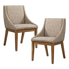 INK+IVY Dean Upholstered Dining Chair 2-piece Set by