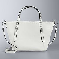Simply Vera Vera Wang Studded Leather Mini Crossbody Tote