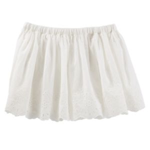 Girls 4-8 OshKosh B'gosh Ivory Eyelet Skirt