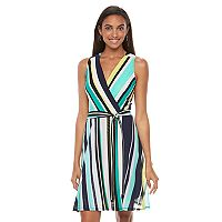 Women's Apt. 9® Print Faux-Wrap Dress