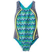 Girls 7-16 Speedo Zig-Zag Sport One-Piece Swimsuit