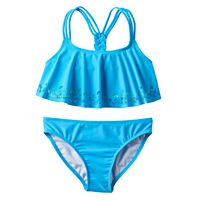 Girls 4-6x Freestyle Revolution Perforated Medallion Tankini Swimsuit Set