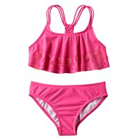 Girls 7-16 Freestyle Revolution Perforated Medallion Tankini Swimsuit Set