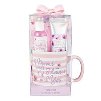 Simple Pleasures Hand Cream & Shower Gel Ceramic Mug Gift Set