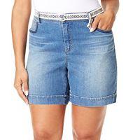 Plus Size Gloria Vanderbilt Marisa Jean Shorts