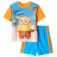 Boys 4-10 Minions 2-Piece Pajama Set