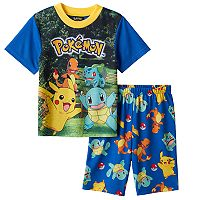 Boys 6-12 Pokemon 2-Piece Pajama Set