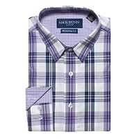 Men's Nick Dunn Modern-Fit Gingham Plaid Dress Shirt