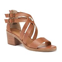 SO® Women's Crisscross Block Heel Sandals