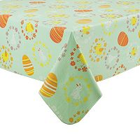 Celebrate Easter Together Chicks Vinyl Tablecloth
